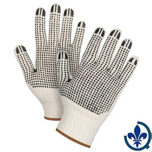 Gants-en-poly-coton-naturel-à-pois-SEE945