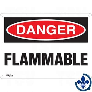 Enseigne-«Flammable»-SGL550