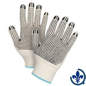 Gants-en-poly-coton-naturel-à-pois-SEE946