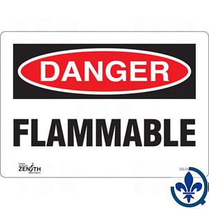 Enseigne-«Flammable»-SGL545