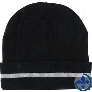 Bonnet-en-tricot-noir-avec-bande-réfléchissante-argentée-SGJ105