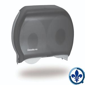 Distributeur-de-papier-hygiénique-en-rouleau-géant-pour-deux-rouleaux-de-9-po-Cascades-PRO-noir-DB12_Quorum_Universal_Dispenser_Product