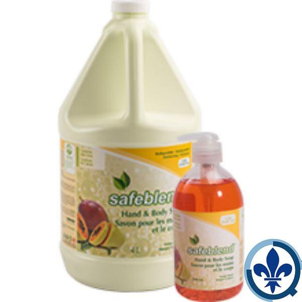 SAFEBLEND-SAVONS-POUR-LES-MAINS-ET-LE-CORPSParfum-mangue-papaye-HLMP-Safeblend-Hand-and-Body-Soap