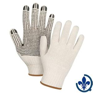Gants-en-poly-coton-naturel-à-pois-SEE941