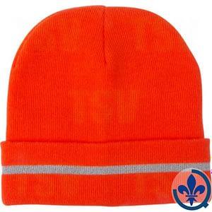 Bonnet-en-tricot-orange-haute-visibilité-avec-bande-réfléchissante-SGI135