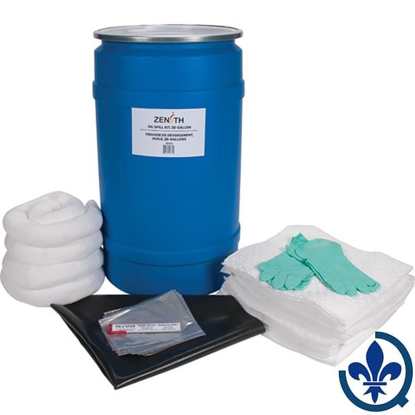 Trousses-de-déversement-pour-établi-30-gallons-Huile-seulement-SEI163