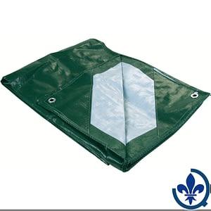 Bâches-en-polyéthylène-Industriel-vert-argent-JB567