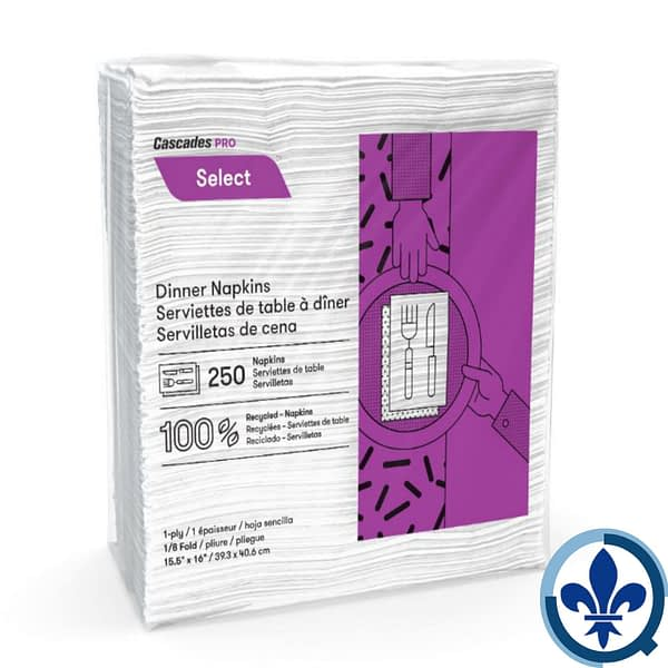 Serviettes-de-table-à-dîner-à-une-épaisseur-pliure-1-8-N050_Quorum_Select_Napkins_Product