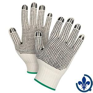 Gants-en-poly-coton-naturel-à-pois-SEE944