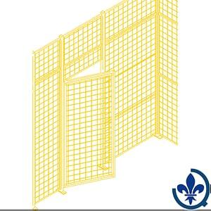 Composantes-pour-partitions-cloisons-grillagées-Portes-battantes-KH933
