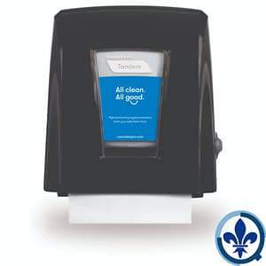 Distributrice-de-papier-en-rouleau-compacte-Cascades-PRO-Tandem-Noir-C331_Quorum_Tandem_Dispenser_Product