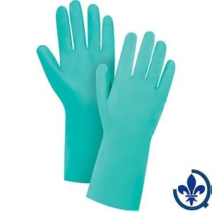 Gants-en-nitrile-vert-avec-doublure-de-coton-SEF085