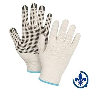 Gants-en-poly-coton-naturel-à-pois-SEE942