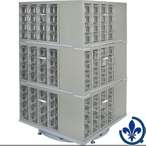 Carrousel-de-casiers-à-tiroirs-industriels-robustes-CF405
