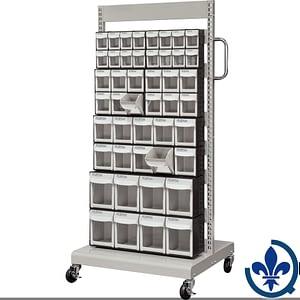 Servantes-mobiles-de-bacs-à-plateaux-inclinables-CF477