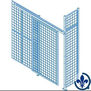 Composantes-pour-partitions-cloisons-grillagées-Portes-coulissantes-KH852