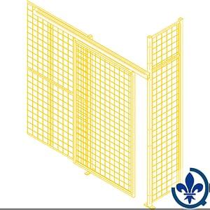 Composantes-pour-partitions-cloisons-grillagées-Portes-coulissantes-KH938