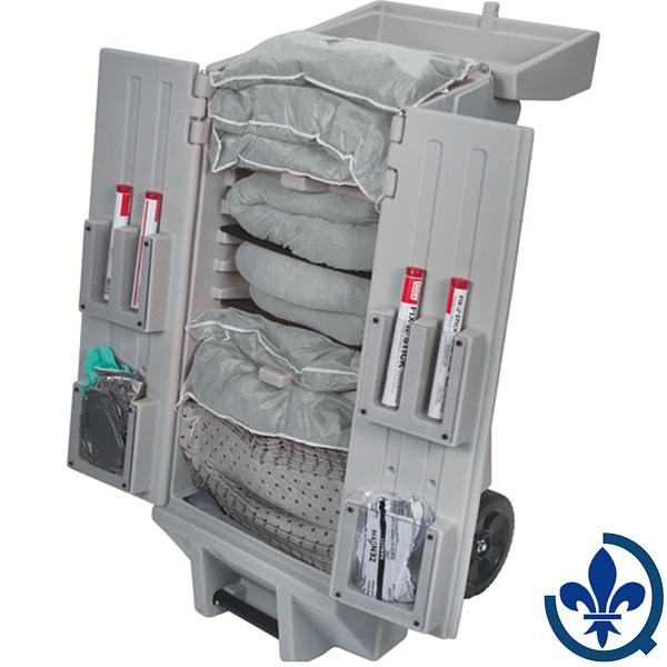 Trousses-de-déversements-mobile-sur-chariot-à-outils-mobile-30-gallons-Universel-SEI199