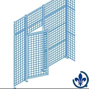 Composantes-pour-partitions-cloisons-grillagées-Portes-battantes-KD110