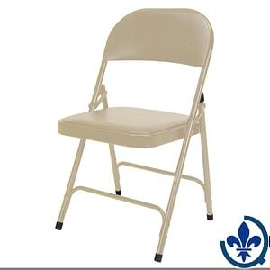 Chaise-pliante-rembourrée-en-vinyle-OP963
