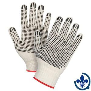 Gants-en-poly-coton-naturel-à-pois-SEE943